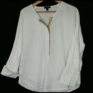 J.Crew top with pretty gold detail!!